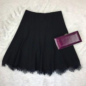 T Tahari Dresses & Skirts - Tahari Black Lace Trim Skirt