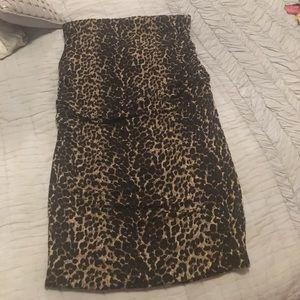 Olivia Moon Dresses & Skirts - Leopard tube top dress