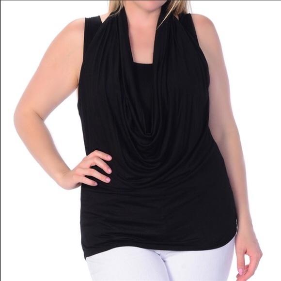 45d694a6388780 Bellino Plus sleeveless drape top