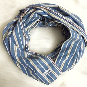 Steven Alan Accessories - Steven Alan Blue & White Stripe Linen Scarf