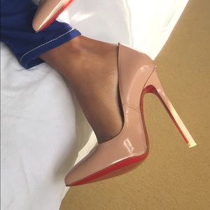 4e8877062f Christian Louboutin Shoes - Louboutin Pigalle 120mm Nude Patent Leather  Pumps
