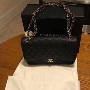 CHANEL Handbags - 100% Authentic Chanel Classic Jumbo Double Flap