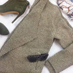 Lou & Grey Sweaters - Beige Textured Open Cardigan