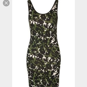 Topshop Dresses & Skirts - Topshop Abstract Camo Body Con Tank Dress US 6 & 8