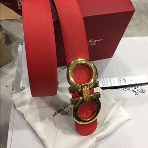 Salvatore Ferragamo Accessories - New Ferragamo Red/Black Reversible belt