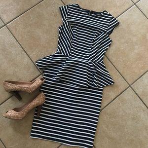 SALE!!!    Mossimo Striped Peplum Dress