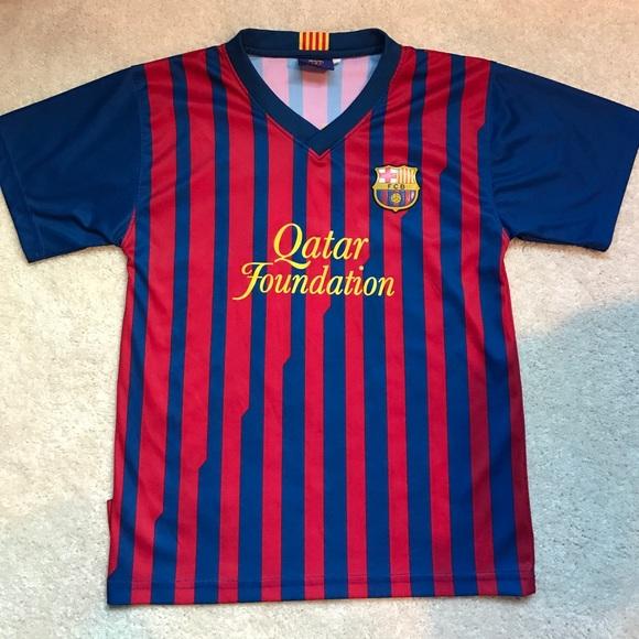 wholesale dealer 532aa acb67 Kids Messi Barcelona Jersey. EUC!!