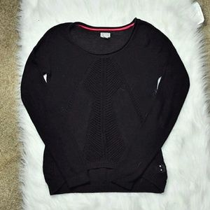 Converse Tops - Converse One Star Black Knitted Top