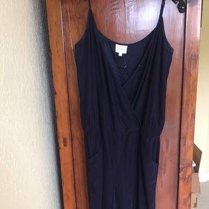 Parker Navy silk jumpsuit