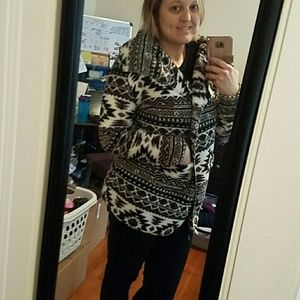 PJ Salvage Sweaters - Aztec-patterned Cozy Cardigan