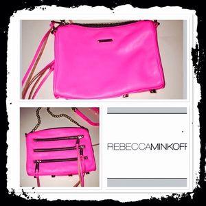 FINAL Rebecca Minkoff hot pink cross body