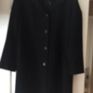 Gallery Jackets & Blazers - 14P black trench coat