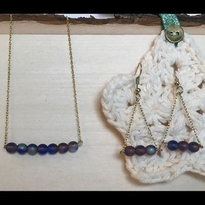 Jewelry - Sapphire and amethyst necklace and earrings set