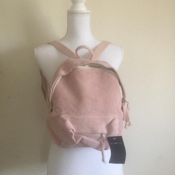 23b2d75fa0 Brandy Melville Bags   Pink Corduroy Mini Backpack   Poshmark