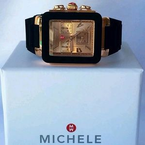 Michele  Accessories - NWT Michele Rose-Gold and black watch