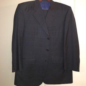 Corneliani Other - Navy windowpane check suit - Corneliani Italian54C