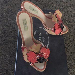 Authentic Prada Flower Heels