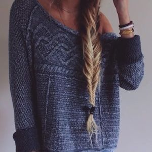 Free People Sweaters - FREE PEOPLE Pullover Sweater Intricate Rugged Top