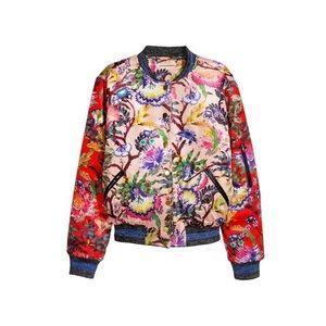 Rare H&M Floral Bomber Jacket