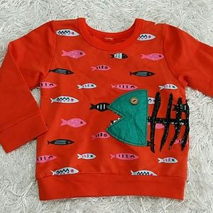 Other - SALE***Red Fish Bones Sweatshirt.  Kids   :)