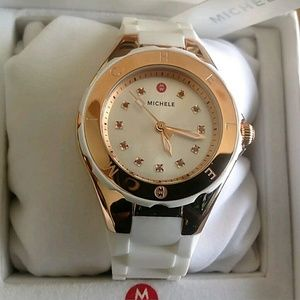 Michele  Accessories - NWT Michele Women's rose and white watch