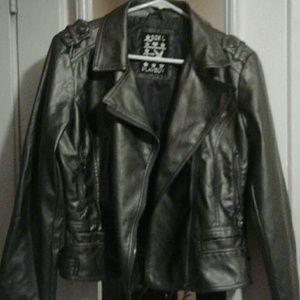 Jackets & Coats - Metallic biker jacket