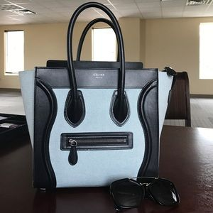 Celine Handbags - Celine Luggage 2017 new color!!! canvas+ leather
