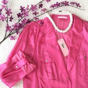 Basler Tops - Flash Sale! NWT Basler Silk Blazer/Jacket