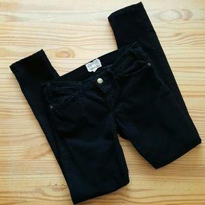 Current/Elliott Pants - Current/Elliott black corduroy skinnies