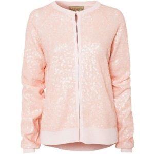 🆕 Wildfox Ballroom Sequin Cardigan in Pink