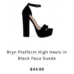 25b4ef624d1e Public Desire Shoes - Public Desire Bryn Platform Heels