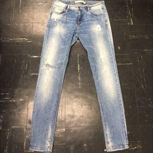 Zara Denim - Zara Slim Fit Distressed Skin Jeans