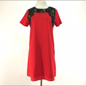 MM Couture Dresses & Skirts - MM Couture dress M red shift sleeve mini pocket