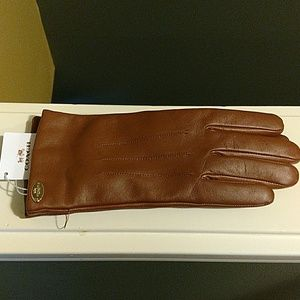 Coach Accessories - BRAND NEW COACH LEATHER GLOVES
