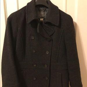 Jcrew double breasted gray wool pea coat