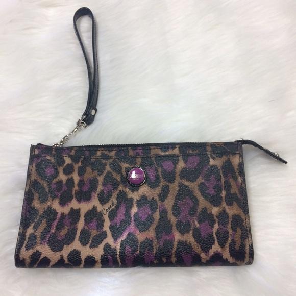 c94fa0f5e ... get coach ocelot leopard print wristlet wallet zippy 1e656 2c6f7