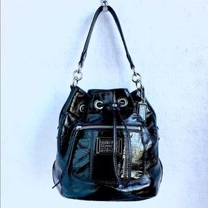 Coach Poppy Patent Bucket Bag 17941