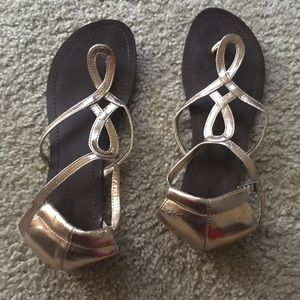 Old Navy Shoes - Gold Sandals