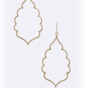 Jewelry - Gold leaf drop Earrings
