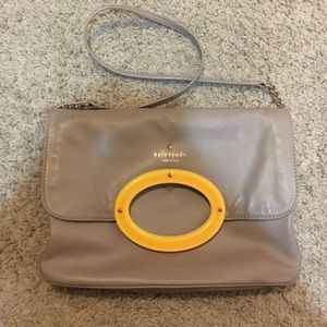 kate spade Handbags - Kate Spade Taupe, Yellow, & Orange Handbag
