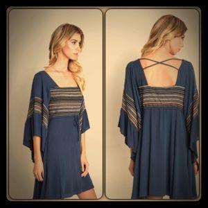 Dresses & Skirts - Indigo Bell Sleeve Dress