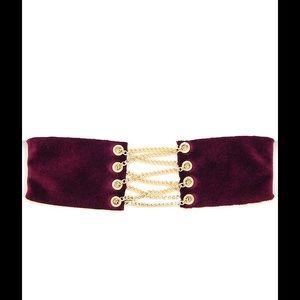 Jewelry - Burgundy Velvet Corset Choker