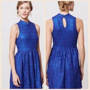 Anthropologie Dresses & Skirts - Anthropologie blue lace dress