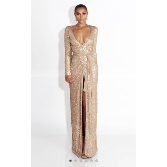 2f29bf18 JLUX LABEL Dresses | Nwt Glory Gold Long Sleeve Sequin Gown | Poshmark