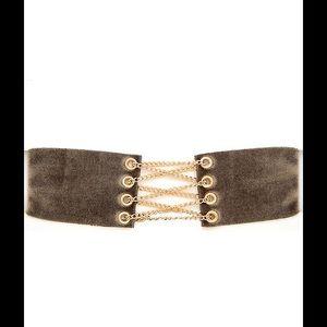 Jewelry - Khaki Velvet Corset Choker