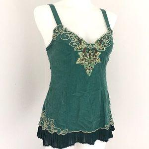 Karen Millen Tops - Karen Millen Green Silk Top