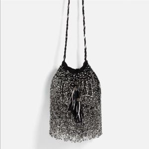 Zara Bucket Bag with beads