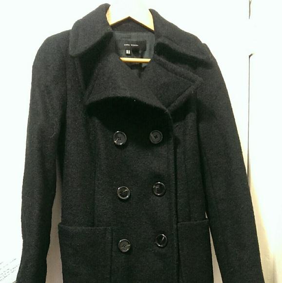 c80ca542f3 Zara Jackets & Coats | Black Sherlock Like Belstaff Long Wool Coat M ...