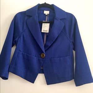 Anthropologie Jackets & Blazers - NWT Anthropologie royal blue jacket