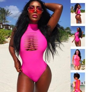 fashion miami styles Other - Fire pink monokini 2017 swimwear collection